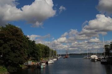 Segelboote in Holtenau