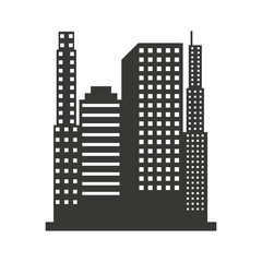 building construction silhouette icon