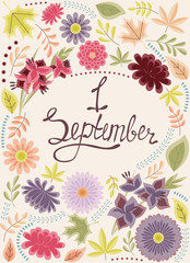 First September background vintage