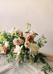 Wedding floral display, close-up