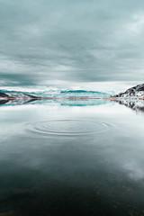 Water ripples in lake