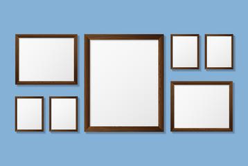Vector, wooden frame.