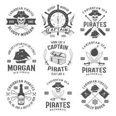 Sea Robbers Monochrome Emblems