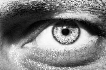 an insightful beautiful look man's eye