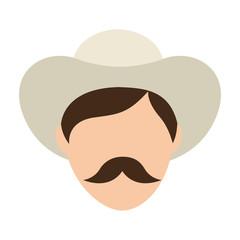 man farmer colombian coffee icon