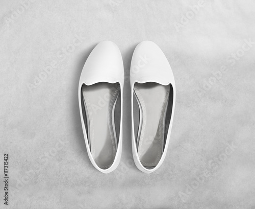 White blank women shoes mockup stand isolated, clipping path. Female ...