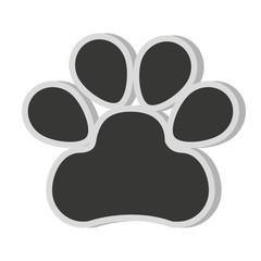 dog footprint isolated icon