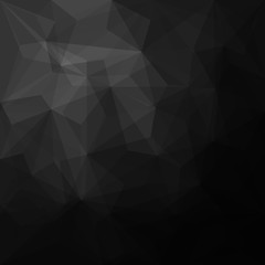 Abstract black geometrical background - Vector