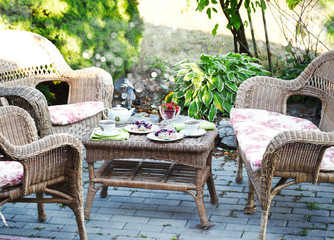 Tea and cake in the garden