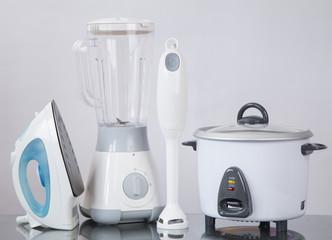 Kitchen Appliances on a neutral background