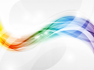 Vector abstract background. Color waves formed by flowing, and merging lines.