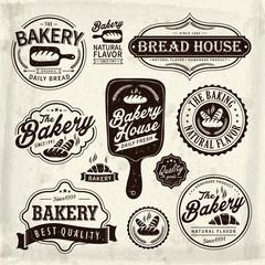 bakery label design set