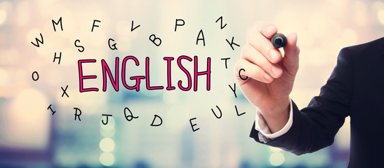 English concept with businessman