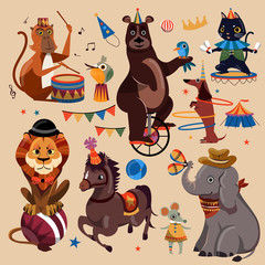 Circus animals set