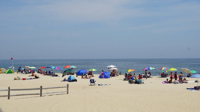Beach at Long Branch in New Jersey, USA