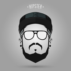 hipster sign cap
