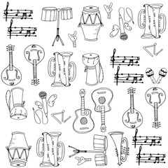 Musical instrument pack doodles