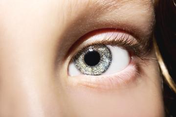 Macro Close up portrait of young girls eye
