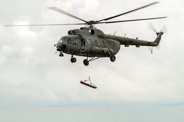 Helicopter rescue  peoples