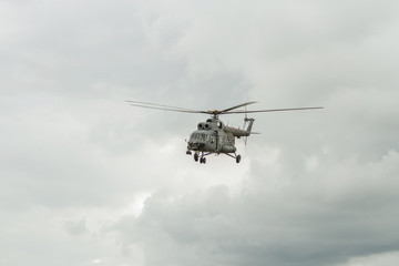 Helicopter in exercise