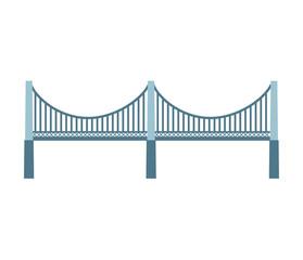 bridge silhouette isolated icon