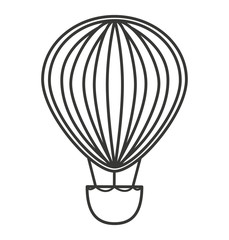 balloon air basket flying icon