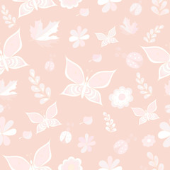 Delicate pink and white vector seamless patterns. Repeating texture. Vector, EPS 8.