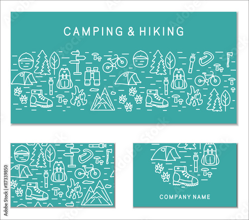 Hiking and travel branding cards collection corporate identity hiking and travel branding cards collection corporate identity templates for business cards banners colourmoves