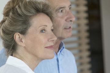 Close-up of happy senior couple