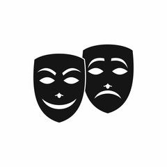 Carnival mask icon in simple style isolated on white background. Festive accessories symbol