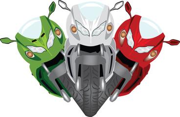 tricolore di moto da corsa