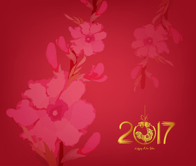 Abstract Chinese New Year 2017 Graphic And Background