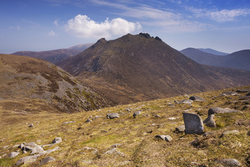 The Mourne Mountains in Northern Ireland