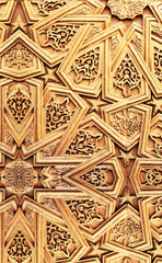 Islamic carving wooden background