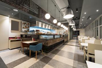 Cuisine in modern restaurant