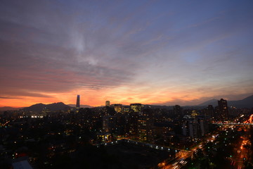 sunset clouds in Santiago Chile