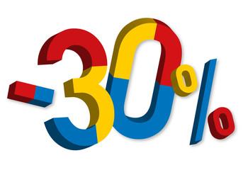 -30% - Soldes - Promo
