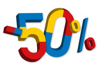 -50% - Soldes - Promo