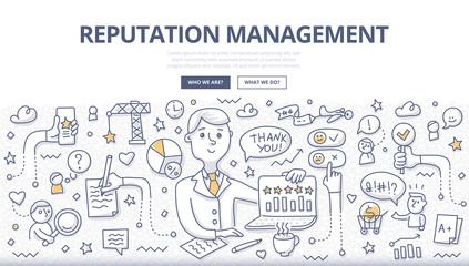 Reputation Management Doodle Concept