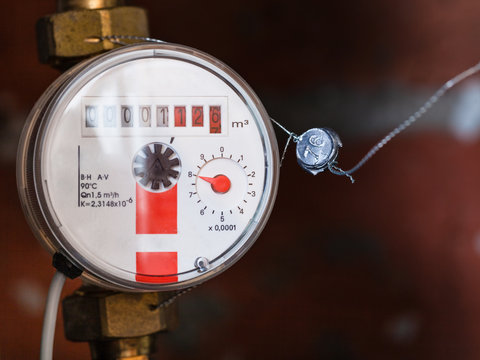 one new mechanical hot water meter