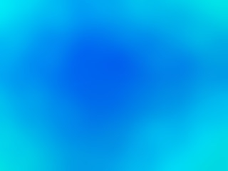 Abstract gradient turquoise blue colored blurred background