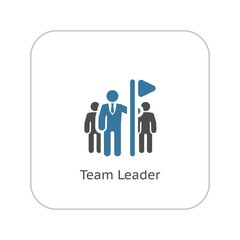 Team Leader Icon. Flat Design.