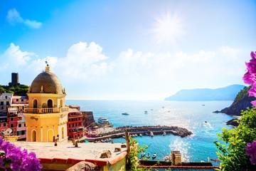 art Romantic Seascape in Five lands, Vernazza, Cinque Terre, Lig