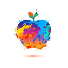 Apple of splash paint
