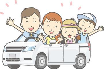 家族でドライブ旅行