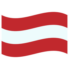 Wall Murals United States red and white austrian flag flying in the breeze