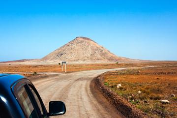 Monte Leste, traveling by car. Cape Verde,  Sal Island