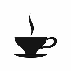 Cup of tea icon in simple style isolated on white background. Drink symbol