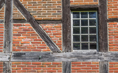 Detail of an old barn at the Saline Gottesgabe in Rheine