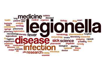 Legionella word cloud concept